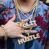 Custom Iced Out Bubble Letter Necklace