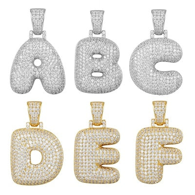 Custom Iced Bubble Letter Pendant