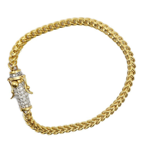 8MM Gold/Silver Franco with Iced Clasp
