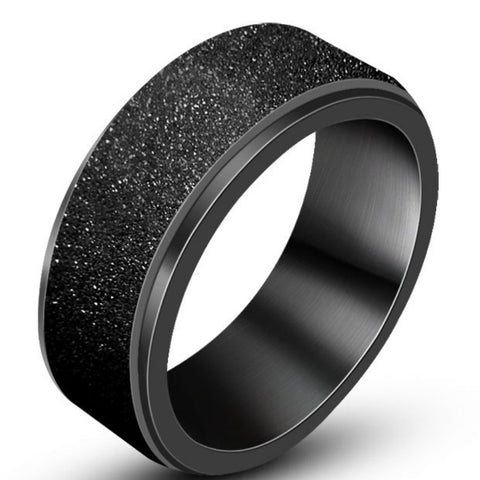 Micro Iced Stone Pave Ring (Black)