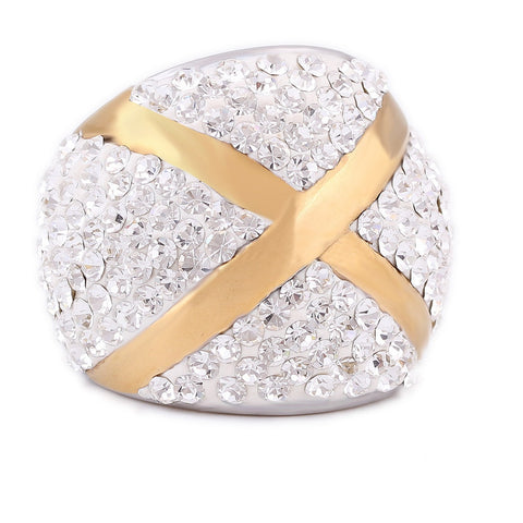 Micro Flooded Cross Ring (Gold/Silver/Black)