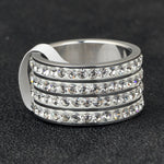 Four Row Micro Iced Diamond Ring