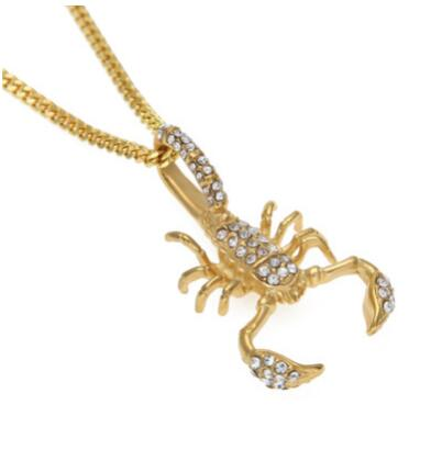 Fully Iced Out Scorpion Pendant + Chain