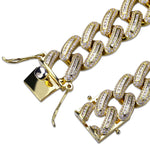 18MM Flooded Baguette Cuban Link Chain