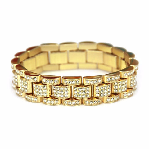 Micro Iced 14k Stacked Cuban Bracelet
