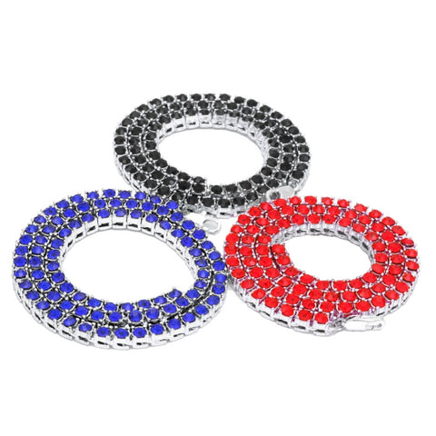 Multi-Color Single Row Micro Diamond Tennis Chain