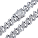 14MM Micro Iced Prong Set Cuban Chain