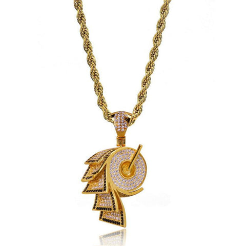 Iced Straight Cash Pendant + Chain