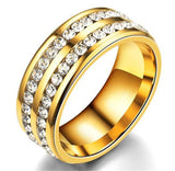 Double Row Micro Iced 18k Ring