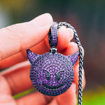 Iced Out Emoji Pendant Necklace (Multiple Styles)