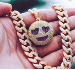 Iced Emoji Pendant Necklace (Multiple Styles)