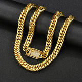 10MM 18k Gold Miami Cuban Chain