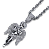 Micro Iced 14k Angel Pendant + Chain