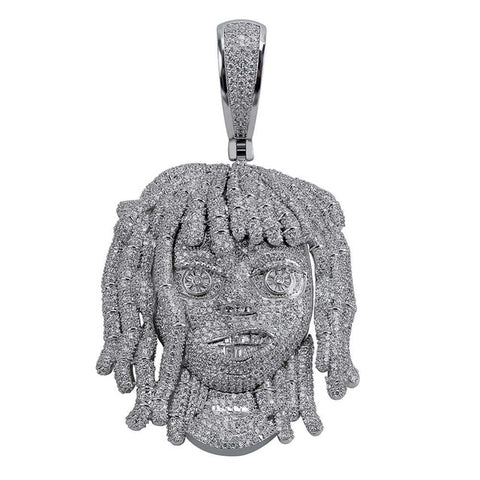 Micro Iced 24k Lil Pump Pendant + Chain