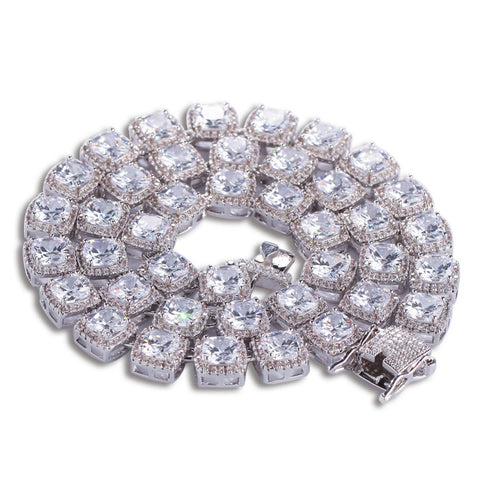 Macro Diamond Tennis Chain & Bracelet