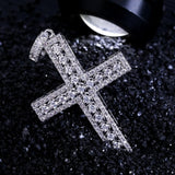 Micro Iced 14k Cross Pendant + Chain