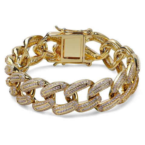 19MM Baguette Miami Cuban Bracelet
