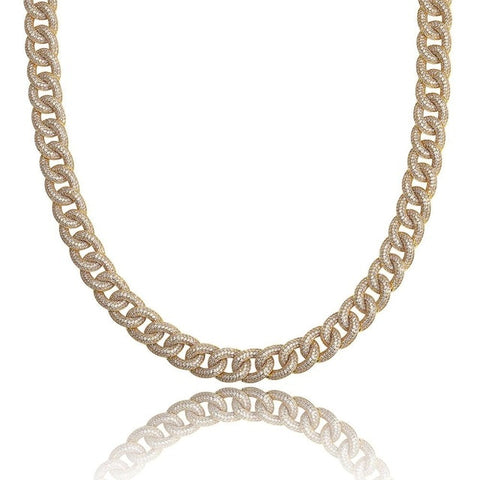 13MM Micro Iced Ellipse Cuban Link Chain