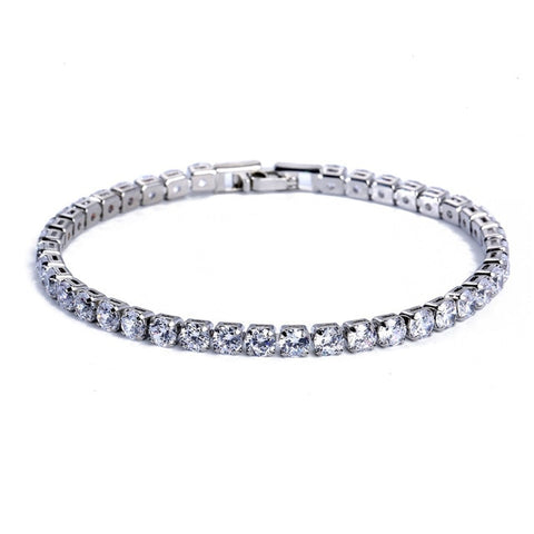 4MM Macro Diamond Tennis Bracelet (Multiple Styles)