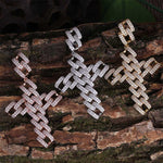 Limited Edition: Micro Iced 14k Cuban Link Cross
