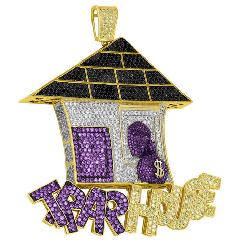Micro Iced Trap House Pendant + Chain