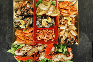 ${product_type Gourmet Seafood Platter serves 4 to 6 The Berwick Shellfish Co.