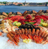 The SHOWCASE FEAST Seafood Platter serves  12-16 persons