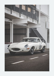 Jaguar E-Type in the fog - FINE ART PRINT