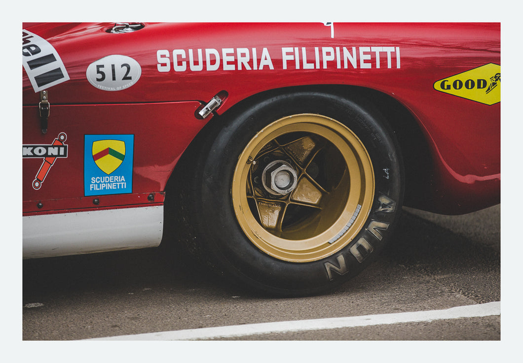 Ferrari 512S/512M 'Golden Wheels' - FINE ART PRINT