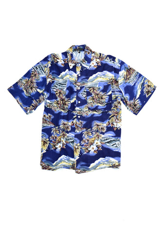 aloha shirt - navy - men's small