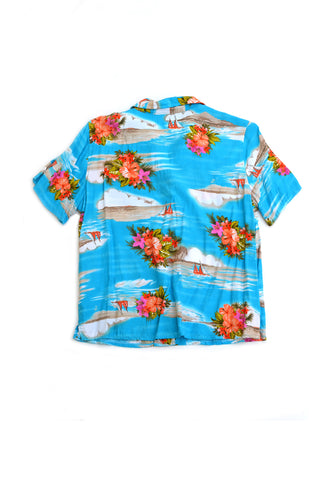 aloha shirt - pool blue