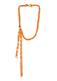 asymmetric necklace - neon orange