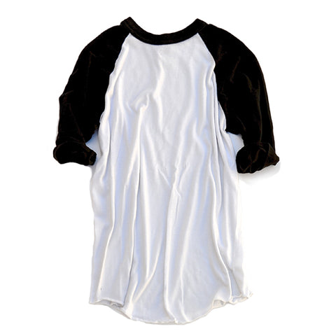 baseball tee - black & white
