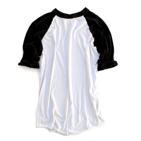baseball tee - black & white - youth large