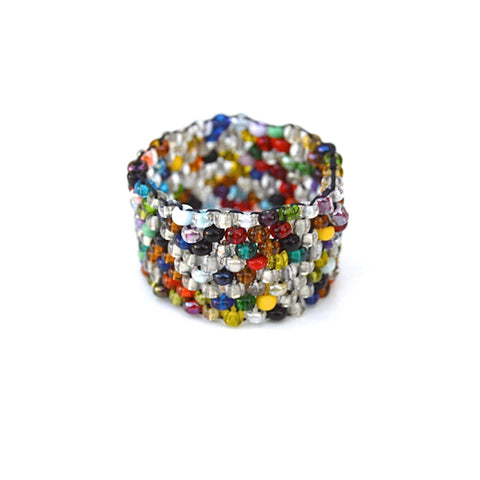 beaded ring - multi