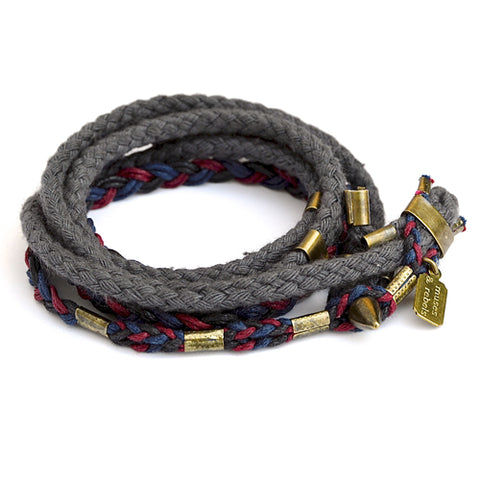 braid & rope wrap bracelet - academy
