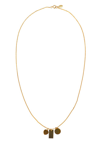 charm necklace - gold