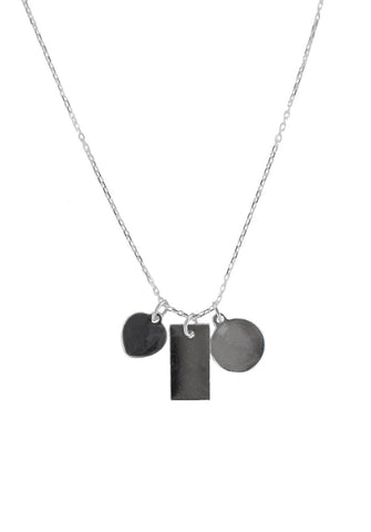 charm necklace - silver
