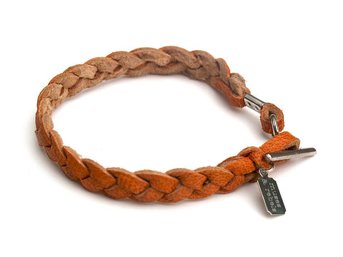 clay leather bracelet
