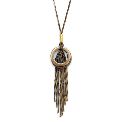 cleo fringe necklace