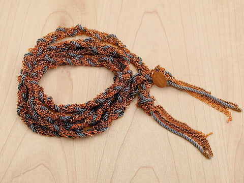 copper braided chain