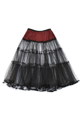 crinoline - black & burgundy