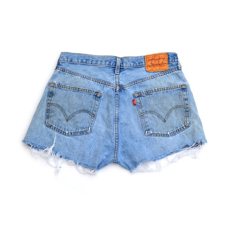 denim shorts - boardwalk blue - waist size 34