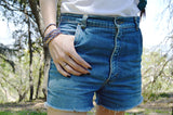 denim shorts - carpenter - waist size 30