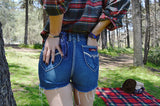 denim shorts - retro blue