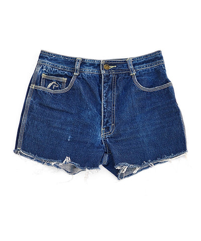 denim shorts - retro blue - waist size 29
