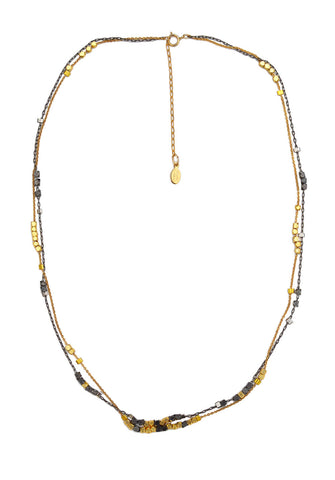double love chain - gold gunmetal