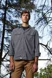 double pocket flannel shirt - ash