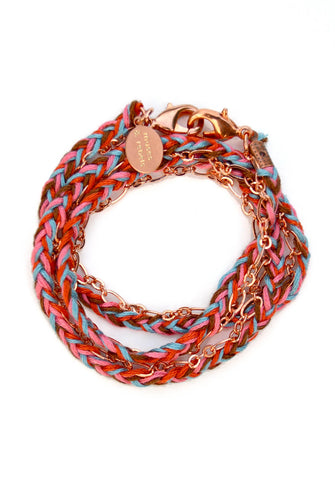 everyday chain - rose gold southwest braid