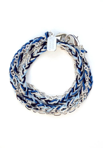 everyday chain - silver indigo braid